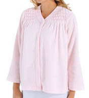 Miss Elaine Brushed Back Terry Snap Front Bed Jacket 811004