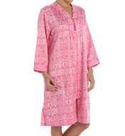 Miss Elaine Brushed Back Satin Short Zip Robe 836935