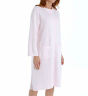 Miss Elaine Quilt-In-Knit Short Snap Front Robe 851884
