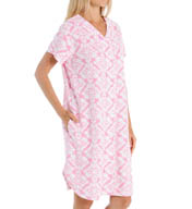 Miss Elaine Micro Terry Short Button Front Robe 854035