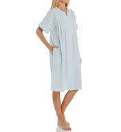 Miss Elaine Seersucker Short Snap Front Robe 854685