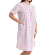 Miss Elaine Seersucker Plaid Gown 859654
