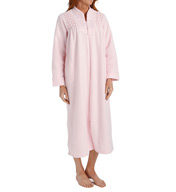 Miss Elaine Brushed Back Terry Long Zip Robe 866005