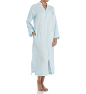 Miss Elaine Brushed Back Satin Long Zip Robe 866195