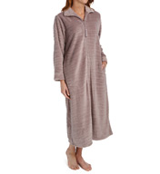 Miss Elaine Plush Fleece Long Zip Robe 866545