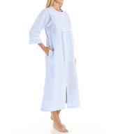 Miss Elaine Seersucker Long Zip Robe 874655