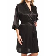 Mystique Intimates Raeanna Short Black Kimono 30582