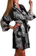 Mystique Intimates Raeanna Short Print Kimono 30592