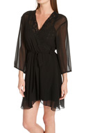 Mystique Intimates Enchanting Short Chiffon Robe 46982