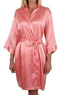 Mystique Intimates Hydrangea Solid Short Kimono Robe 70042