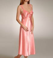 Mystique Intimates Hydrangea Solid Ballet Length Gown 70045