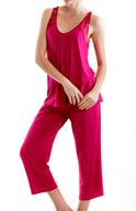 Mystique Intimates Olivia Capri Pant Pajama Set 77216