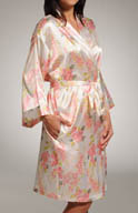 Mystique Intimates Hydrangea Short Kimono 78842