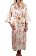 Mystique Intimates Hydrangea Long Kimono 78843