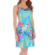 "N by Natori Sleepwear Tropical 36"" Chemise WC8001"