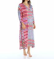 N by Natori Sleepwear Alix Printed Satin Caftan XC0008