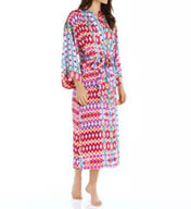 N by Natori Sleepwear Alix Printed Satin Robe XC4003