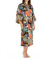 N by Natori Sleepwear Noelle Printed Long Robe XC4011
