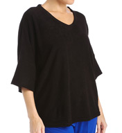 N by Natori Sleepwear Terry Lounge Top XC5002