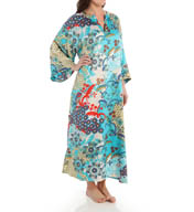 N by Natori Sleepwear Capri Printed Charmeuse Caftan YC0003