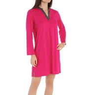 N by Natori Sleepwear Oasis Solid Mandarin Tunic YC2007