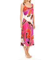 N by Natori Sleepwear Deco Floral Printed Satin Gown YC3005