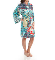 N by Natori Sleepwear Capri Printed Charmeuse Wrap YC4003