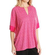 N by Natori Sleepwear Chiyo Printed Oasis Tunic Top YC5006
