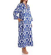 N by Natori Sleepwear Tapestry Printed Charmeuse Long Caftan ZC0004