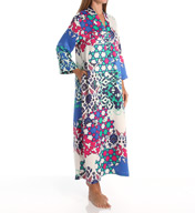 N by Natori Sleepwear Turkish Floral Printed Charmeuse Long Caftan ZC0005