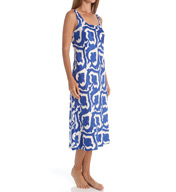N by Natori Sleepwear Tapestry Printed Charmeuse Long Gown ZC3004