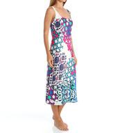 N by Natori Sleepwear Turkish Floral Printed Charmeuse Long Gown ZC3005