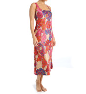 N by Natori Sleepwear Mosaic Tile Printed Charmeuse Long Gown ZC3012