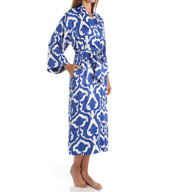 N by Natori Sleepwear Tapestry Printed Charmeuse Long Robe ZC4004