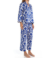 N by Natori Sleepwear Tapestry Printed Charmeuse Pajama Set ZC6004