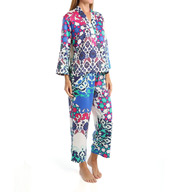 N by Natori Sleepwear Turkish Floral Printed Charmeuse Pajama Set ZC6005