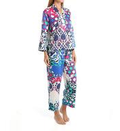 N by Natori Sleepwear Turkish Floral Printed Charmeuse Pajama Set ZC6005