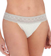 Naomi & Nicole Wonderful Edge Wide Lace Thong A160