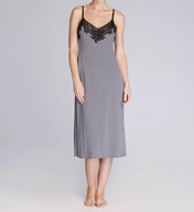Natori Sleepwear Lhasa Solid Poly Modal With Lace Gown P73014