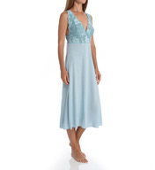 Natori Sleepwear Zen Floral Modal Knit with Lace Nightgown U73050