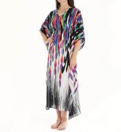Natori Sleepwear Tatiana Printed Satin Georgette Caftan X70081
