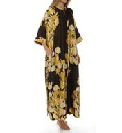 Natori Sleepwear Irina Printed Silky Charmeuse Caftan X70170