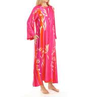 Natori Sleepwear Izabella Printed Charmeuse Zip Caftan X70180