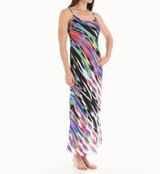 Natori Sleepwear Tatiana Printed Satin Georgette Gown X73081