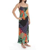 Natori Sleepwear Anna Printed Satin Georgette Gown X73146