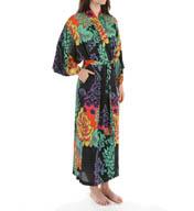 Natori Sleepwear Anna Printed Satin Georgette Robe X74046