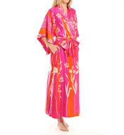 Natori Sleepwear Izabella Printed Charmeuse Robe X74080