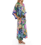 Natori Sleepwear Tahiti Silky Satin Georgette Caftan Y70006