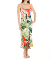 Natori Sleepwear Birds of Paradise Silky Charmeuse Nightgown Y73009