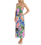 Natori Sleepwear Tahiti Silky Satin Georgette Nightgown Y73106